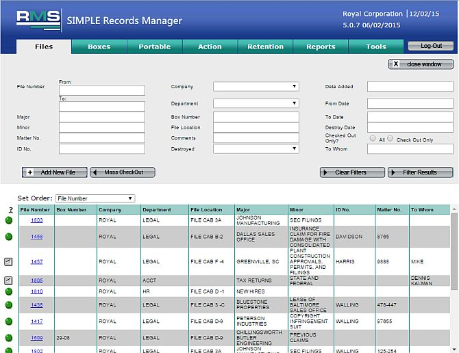 Record Management Software Inc